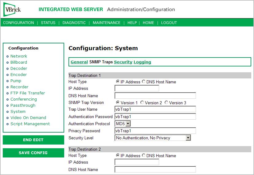 MPEG-2 Configuration